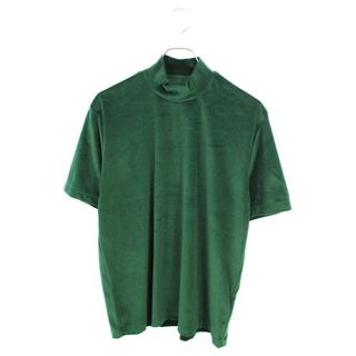 ジョンローレンスサリバン(JOHN LAWRENCE SULLIVAN)のジョンローレンスサリバン モックネックTシャツ ベロア グリーン 緑(Tシャツ/カットソー(半袖/袖なし))
