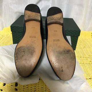 ご確認用②】GUCCI グッチ ネイビー ビットモカシン ローファー(ローファー/革靴)