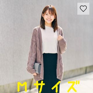 GU - 【新品】ケーブルボーイフレンドカーディガン M