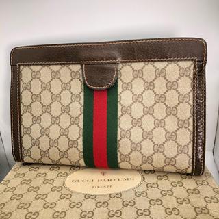 Gucci - 美品 GUCCI グッチ シェリーライン クラッチバッグ 正規品