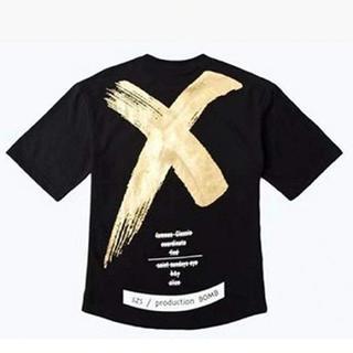 新品☆ Tシャツ シャツ ストリート カジュアル トレンド ゴールド(Tシャツ/カットソー(半袖/袖なし))