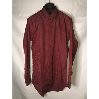 ディオールオム(DIOR HOMME)のDior Homme ディオールオム 18AW ストライプシャツ 赤 黒 37(シャツ)