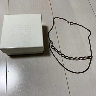 マルタンマルジェラ(Maison Martin Margiela)のマルジェラ チェーン ネックレス レイヤード 喜平 真鍮(ネックレス)
