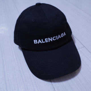 BALENCIAGA バレンシアガ  キャップ 帽子 黒 サイズフリー(キャップ)