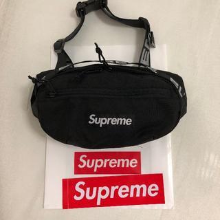 シュプリーム(Supreme)のsupreme waist bag 18ss black 黒(ウエストポーチ)