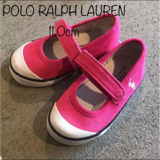ポロラルフローレン(POLO RALPH LAUREN)の【美品】ポロラルフガーデン ピンク 11.0(スニーカー)