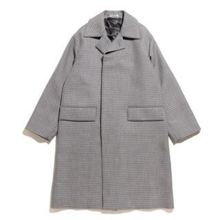 コモリ(COMOLI)の新品未使用 auralee ダブルフェイスチェックステンカラーコート(ステンカラーコート)