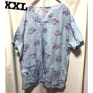 253 雪だるま アメリカ古着 スクラブシャツ ドクターシャツ ホスピタルシャツ(シャツ/ブラウス(半袖/袖なし))