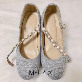◎訳あり◎ パンプス レディース ハイヒール Mサイズ グレー 靴 シューズ(ハイヒール/パンプス)