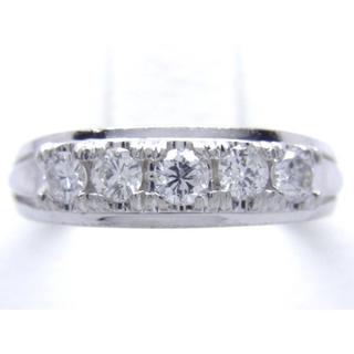 お値引き不可 PT900 合計0.41ct 天然 ダイヤ リング(リング(指輪))