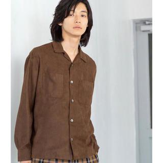 coen - coen スエードタッチオープンカラーシャツ