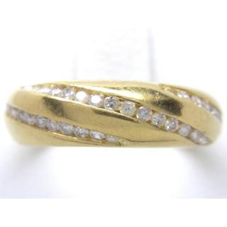 お値引き不可 K18 合計0.45ct 天然 ダイヤ リング(リング(指輪))