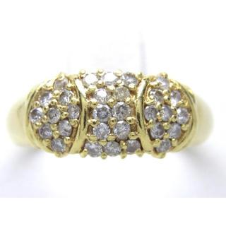 お値引き不可 K18 合計0.50ct 天然 ダイヤ リング(リング(指輪))
