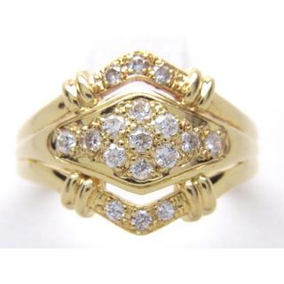 お値引き不可 K18 合計0.29ct 天然 ダイヤ リング(リング(指輪))