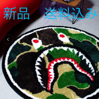 A BATHING APE - エイプ  APE フロアマット ABC CAMO SHARK RUG