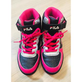 フィラ(FILA)の【美品】【完売】FILA シューズ スニーカー レディース ピンク 24.0cm(スニーカー)