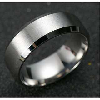 チタンブラックリング (シルバー)  サイズ:14号(リング(指輪))