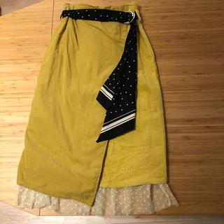 ダズリン(dazzlin)の【dazzlin】スカーフ付コーデュロイスカート(ロングスカート)