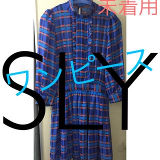 スライ(SLY)のSLY ワンピース ブルー(ひざ丈ワンピース)