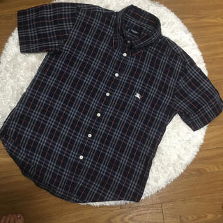 BURBERRY - セール【美品】バーバリー 半袖シャツ ネイビーチェック