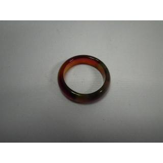 L2-12●パワーストーン●天然石メノウ指輪●瑪瑙 めのう●17号リング●(リング(指輪))