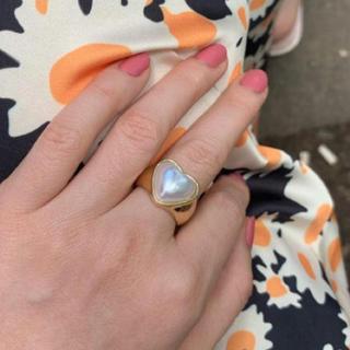 グリモワール(Grimoire)の新品 ハート ゴールド パール 真珠 レトロ 古着屋 リング 指輪(リング(指輪))