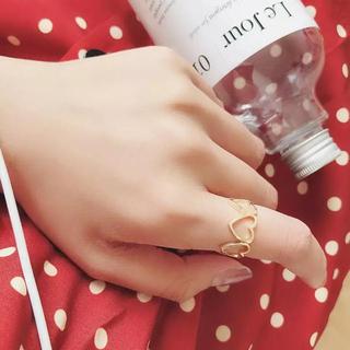 リリーブラウン(Lily Brown)の新品 ハート ゴールド ヴィンテージ レトロ 古着屋 リング 指輪(リング(指輪))