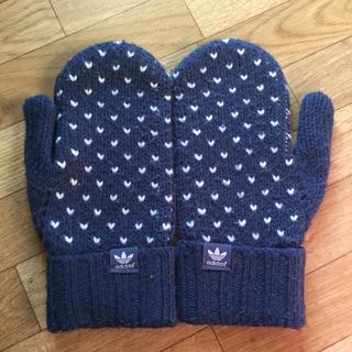 アディダス(adidas)のアディダス 毛糸手袋  手袋  紺(手袋)