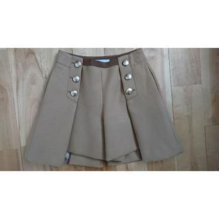 サカイラック(sacai luck)の美品サカイラックsacailuckキュロットスカート キャメル(キュロット)