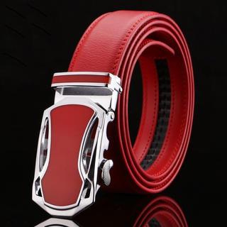 流線型の上品デザイン  レッド  ベルト  メンズ  カジュアル  フォーマル