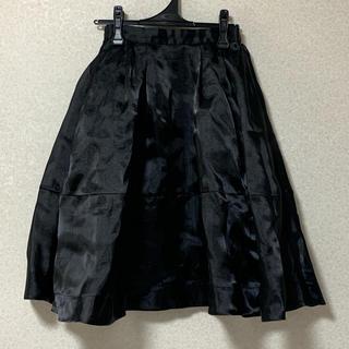 スナイデル(snidel)のスナイデル ブラック スカート(ひざ丈スカート)