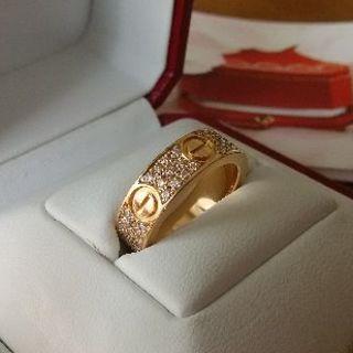 Cartier - 【美品】カルティエ ラブ リング パヴェダイヤモンド