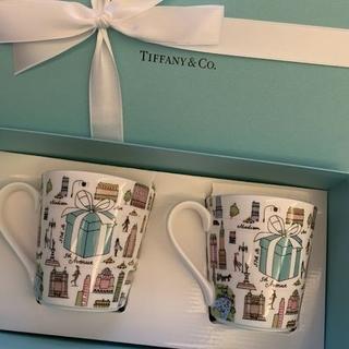 ティファニー(Tiffany & Co.)の【TIFFANY&CO.】ティファニー5THアベニューマグカップペアセット新品(グラス/カップ)