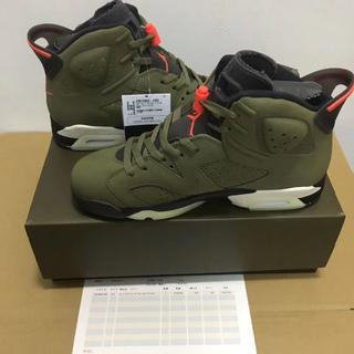 NIKE - 27.5 TRAVIS SCOTT AIR JORDAN 6 OLIVE
