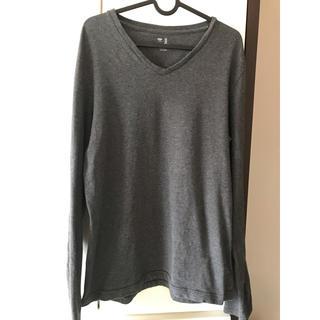 ギャップ(GAP)のギャップ GAP カットソー 長袖 シャツ グレー チャコールグレー(Tシャツ/カットソー(七分/長袖))