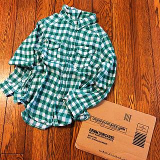 デニムダンガリー(DENIM DUNGAREE)のデニム&ダンガリー  ガーゼ チェックシャツ 120(ブラウス)