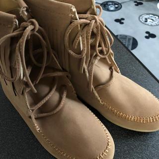 新品 フリンジ ブーツ(ブーツ)