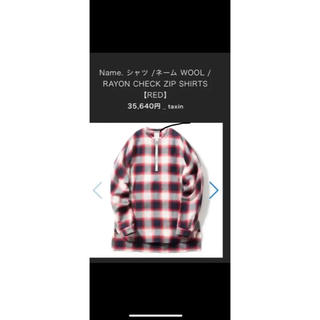 LAD MUSICIAN - name. 16aw チェックシャツ