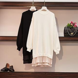 大きいサイズ レディース  フリル裾ロングワンピース(ロングワンピース/マキシワンピース)