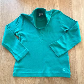 プチバトー(PETIT BATEAU)のプチバトー 定番1×1タートルネック 4ans グリーン(Tシャツ/カットソー)