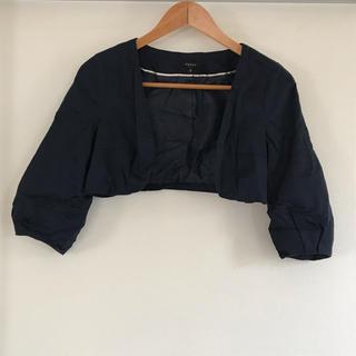 トッカ(TOCCA)のトッカtoccaショートボレロサイズ0紺色ネイビーフォーマルワンピースドレスに(ボレロ)