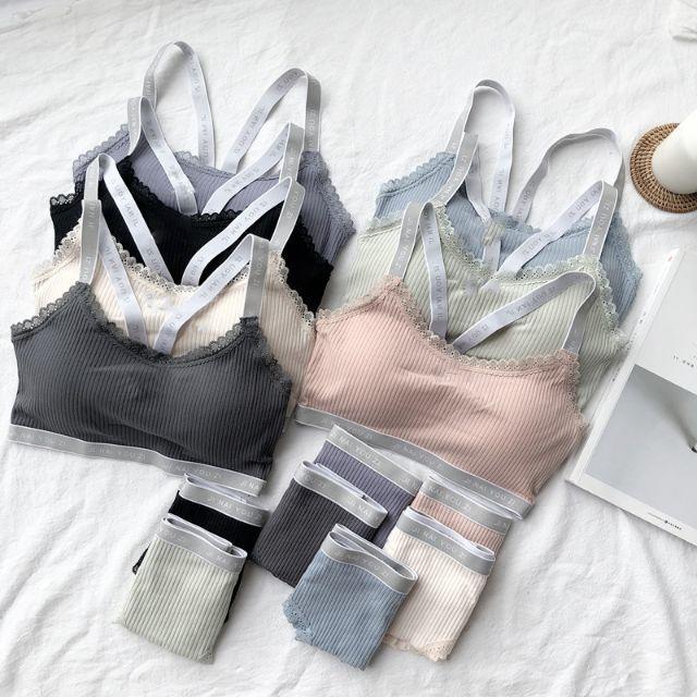 専用 ブルー ホワイト  レディースの下着/アンダーウェア(ブラ&ショーツセット)の商品写真