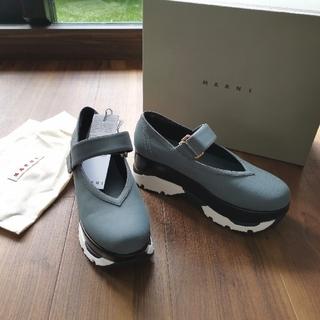 マルニ(Marni)の新品 マルニ プラットフォーム ベルクロ スニーカー 厚底 ネオプレン 40 靴(スニーカー)
