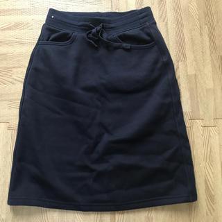 ユニクロ(UNIQLO)のネイビー ボアスカート XS(ひざ丈スカート)