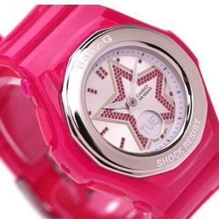 カシオ(CASIO)のカシオ時計☆大型の星にキラキラのラメを敷き詰め、インパクト大可愛い(腕時計)