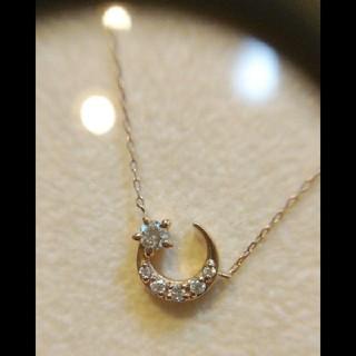 4℃ - MAISON JEWELL K10 ダイヤモンドネックレス