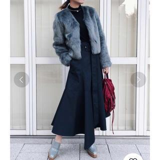 Ameri VINTAGE - AMERI アメリビンテージ コットン 変形ヘムデザイン スカート ブラック