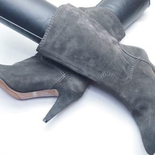 ナインウエスト(NINE WEST)の★美品★NINE WEST★本革スエードショートブーツ 6M☆A102 (ブーツ)