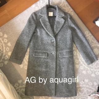 エージーバイアクアガール(AG by aquagirl)のチェスターコート グレー 起毛(チェスターコート)