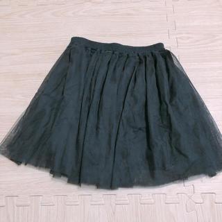 サルース(salus)のサルースブラックチュールスカート(ミニスカート)